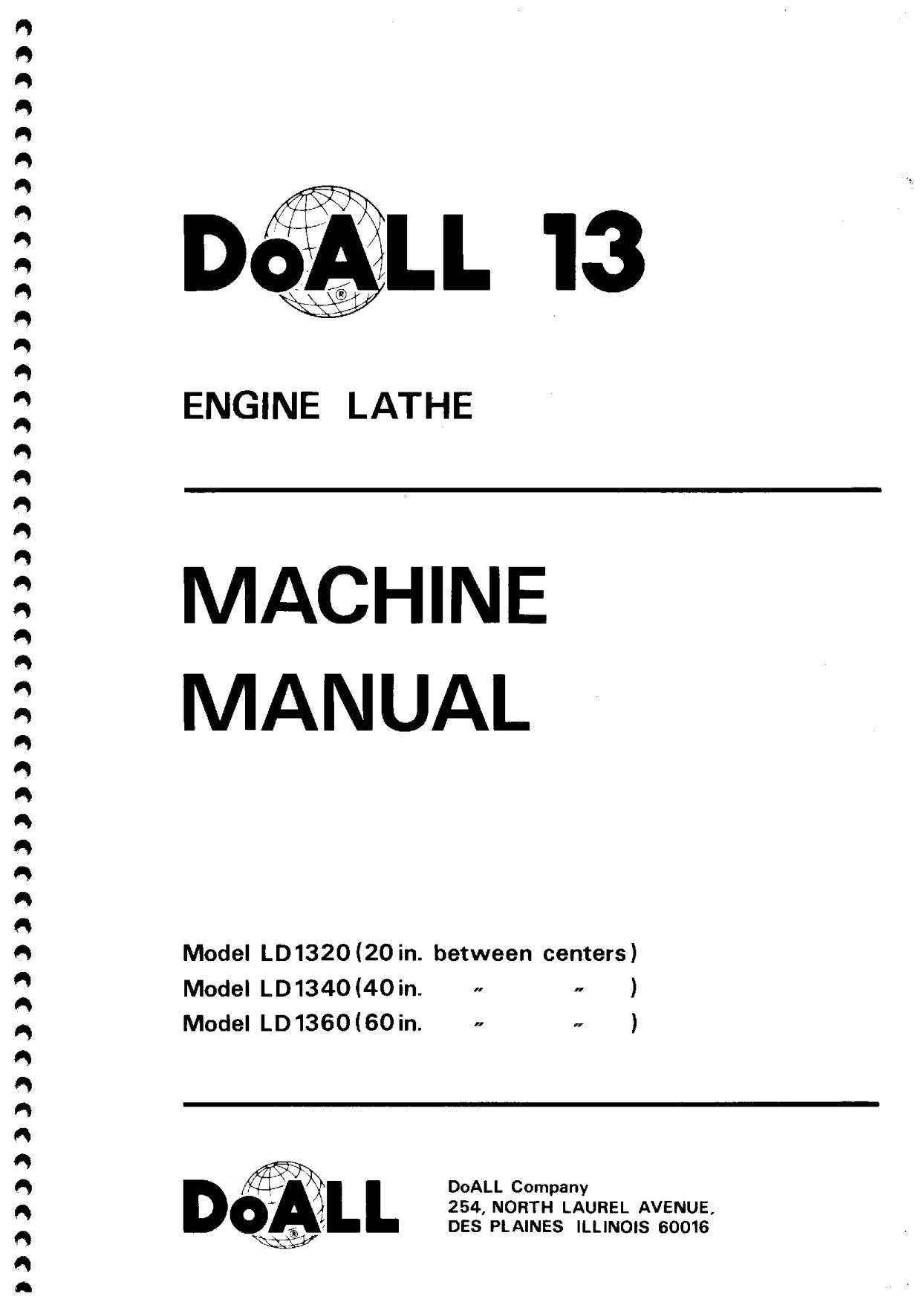 doall 13 engine lathe machine manual 20140205 Doall 13 Lathe Parts List