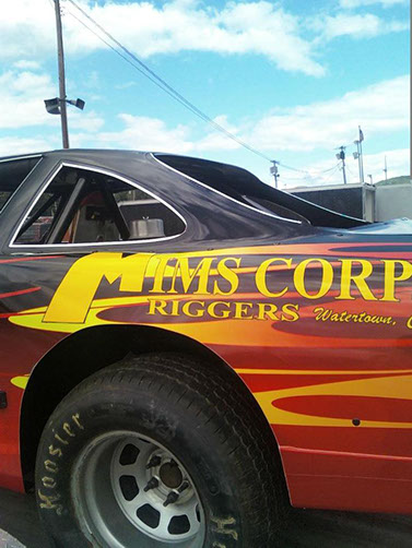 Mims race car at lebanon Valley new york